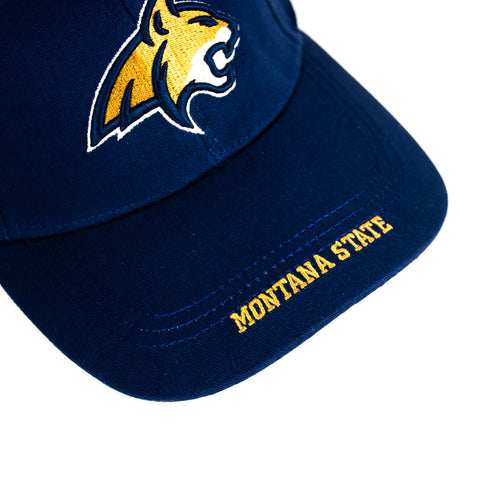 MSU Navy Distressed Bobcat Hat by The Hamilton Group