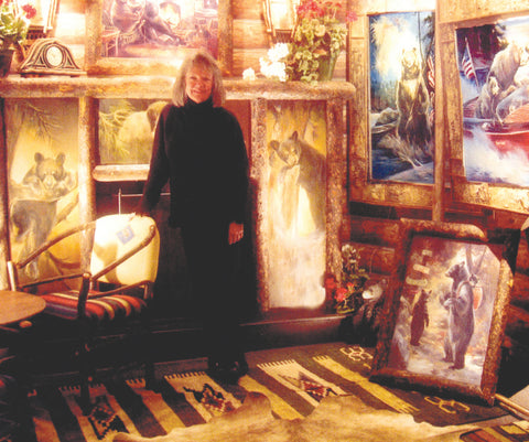 Marilynn Mason posing with some of her favorite pieces.