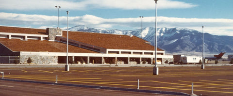 Original Terminal at Bozeman Yellowstone International Airport featured at Montana Gift Corral