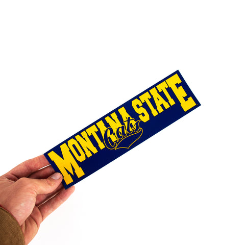 Montana State Retro Rectangle Sticker by The Hamilton Group