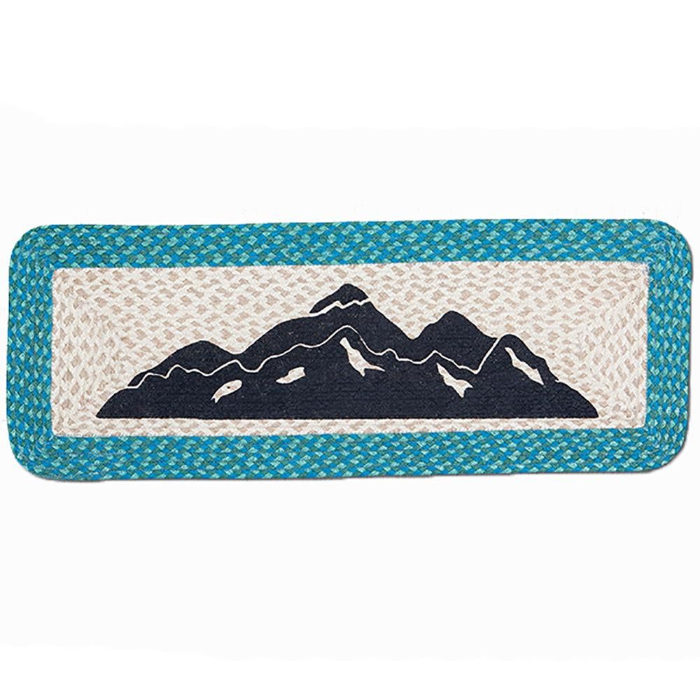 Mountains Rectangle Patch Table Accent by Capitol Earth Rugs