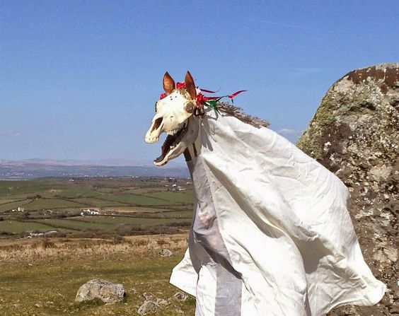 Mari Lwyd Welsh Christmas Tradition. Five Unique Christmas Traditions from Around the World by Issa Rabideaux