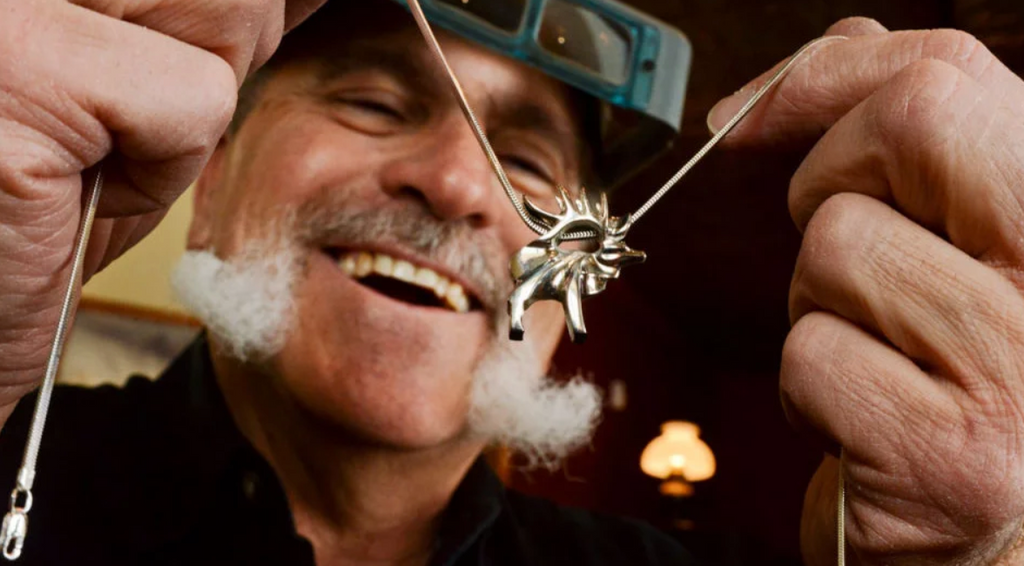 Bozeman jeweler Same Ferraro at work in his Montana studio