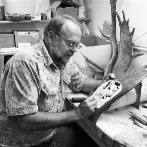 High Country Artist Don Burda Antler Carving