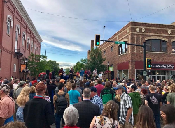 Music on Main in downtown Bozeman