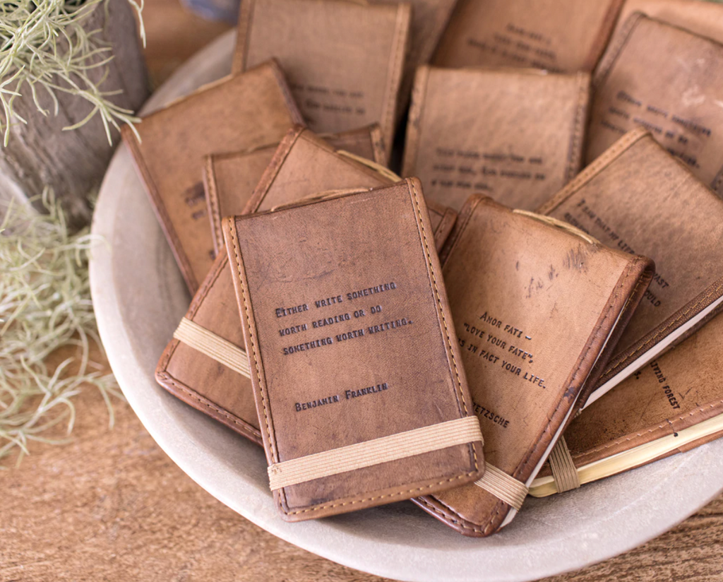 Mini Leather Journal by sugarboo and co