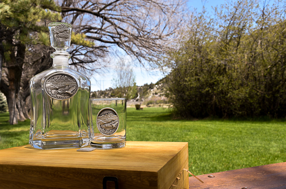 Snake River Decanter Set by Heritage Metalworks on 10 Gifts for Dad for Father's Day in Montana