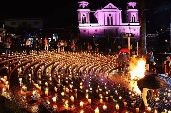 Dia de Las Velitas, Day of the Little Candles in Columbia. Unique Christmas Traditions from around the world by Issa Rabideaux