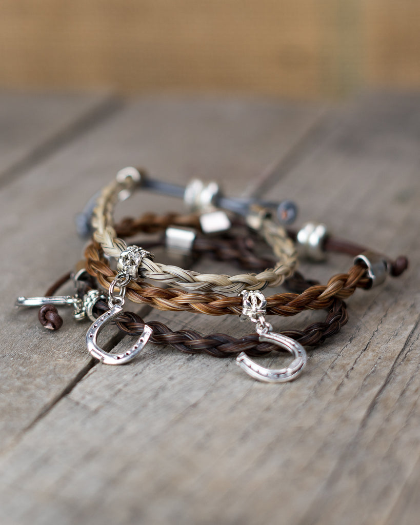 Horse Hair Charm Bracelet by Cowboy Collectibles