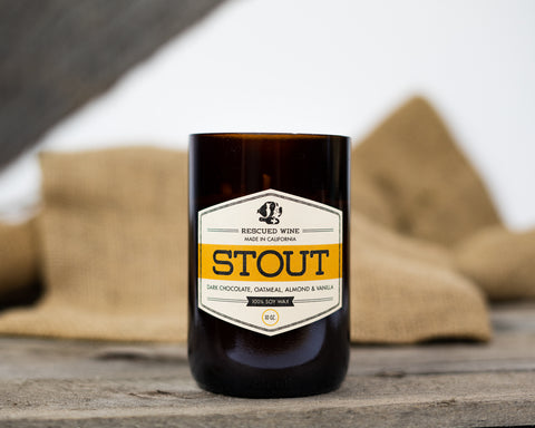 Rescued Wine Stout Candle
