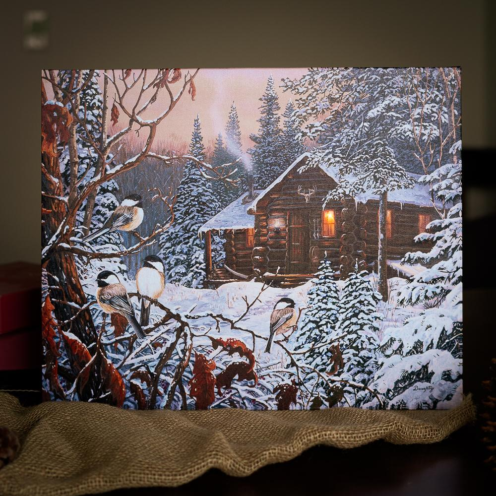 Cabin Lighted Print