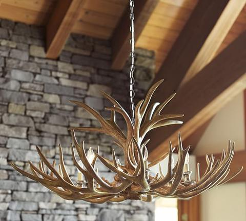 Antler chandelier at the pottery barn