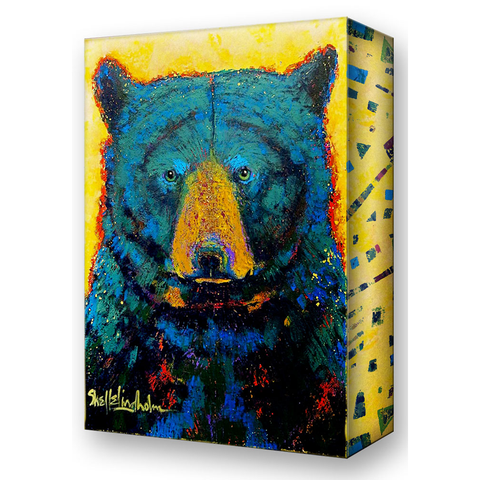 Shelle Lindholm Aurora Black Bear Metal Box Art