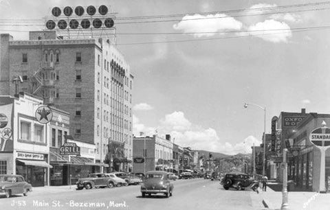 Downtown Bozeman in the 1910's