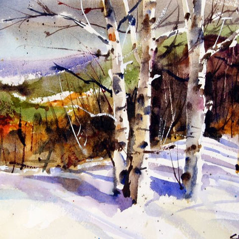 Dean Crouser Watercolor Painting at the Montana Gift Corral by Issa Rabideaux
