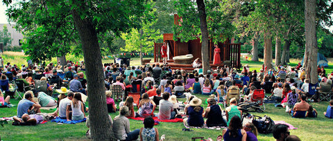 Bozeman Montana, Sweet Pea Festival, Day 1, Friday, Montana Shakespeare in the Parks, at Montana Gift Corral