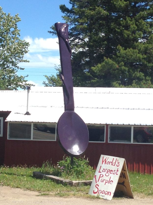 Giant Purple Spoon East Glacier Park