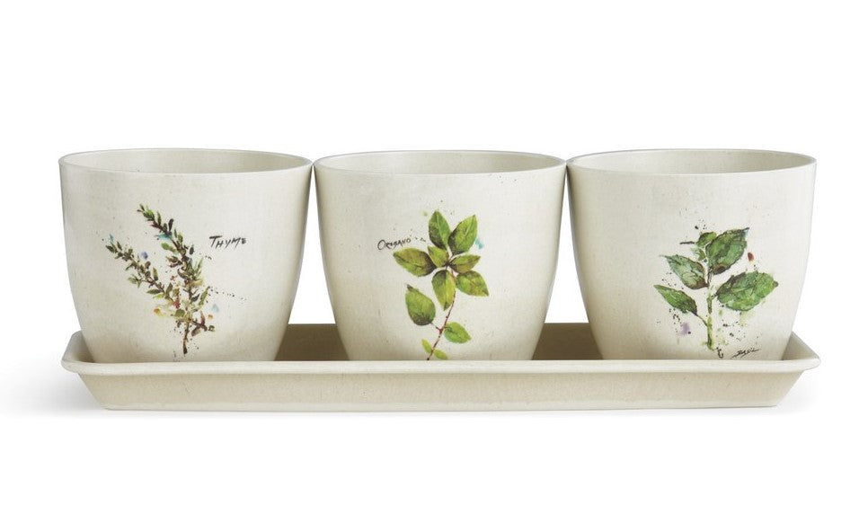 Triple Planter Watercolor Set by Dean Crouser on Decorating Your New Bozeman Home with MGC Decor