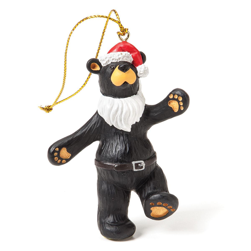 Bearfoots Jolly Santa Bear Ornament by Big Sky Carvers