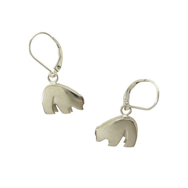 Sam Ferraro Black Bear Silver Earrings