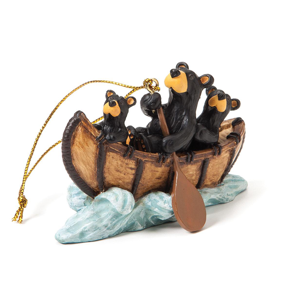 Bear Creek Rapids Bearfoots Ornament by Jeff Fleming