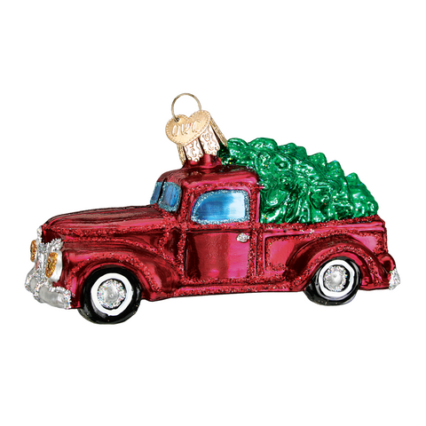 Old Truck With Tree Ornament by Old World Christmas