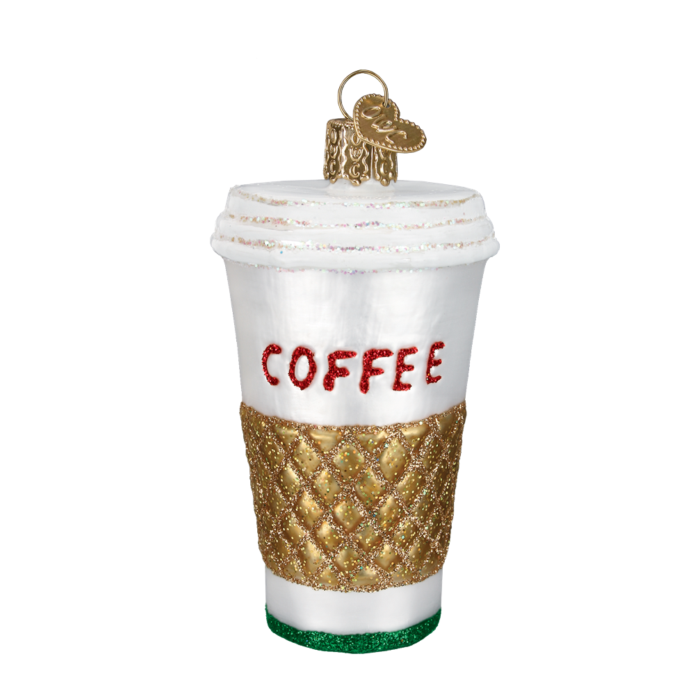 Coffee To Go Ornament by Old World Christmas