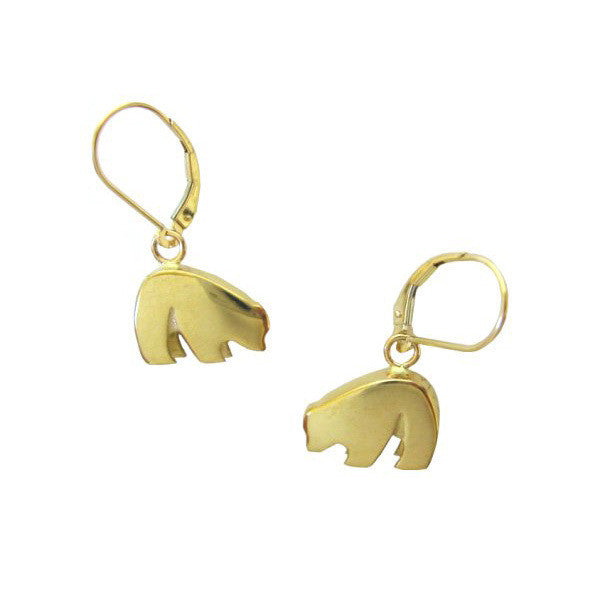 Sam Ferraro Black Bear Gold Earrings