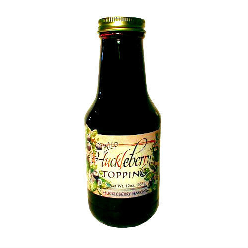 Huckleberry Ice Cream Topping - 12 oz. Jar