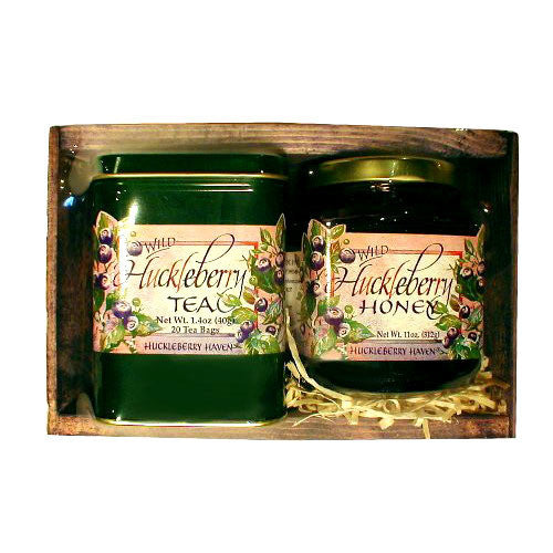 Huckleberry Honey and Tea Gift Box