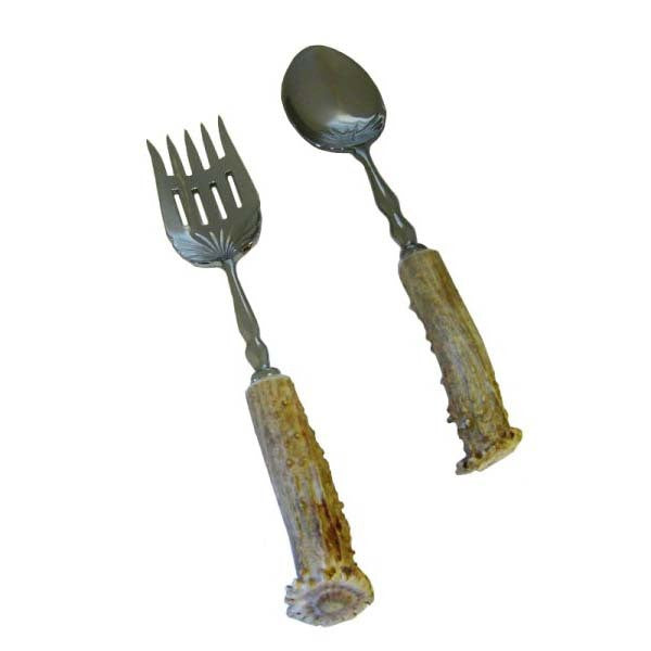 Spoon/Fork Serving Set by High Country Arts