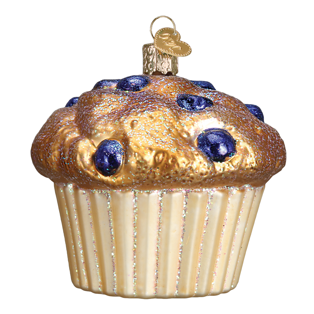 Blueberry Muffin Ornament By Old World Christmas