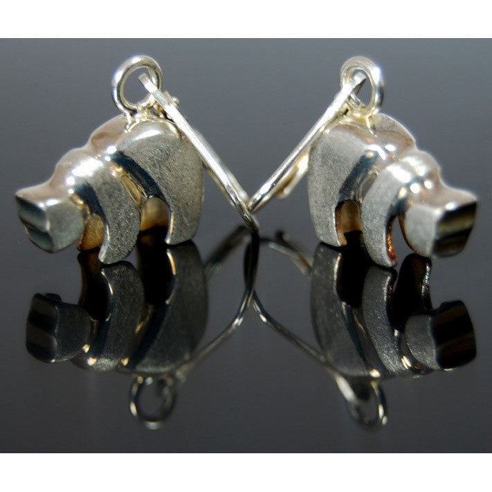 Sam Ferraro Grizzly Silver Earrings