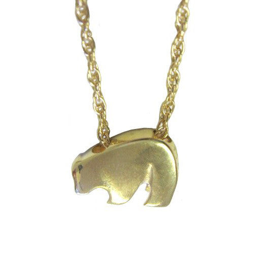Sam Ferraro Baby Black Bear Gold Pendant