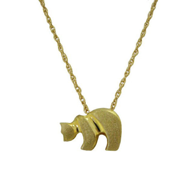 Sam Ferraro Baby Grizzly Gold Pendant