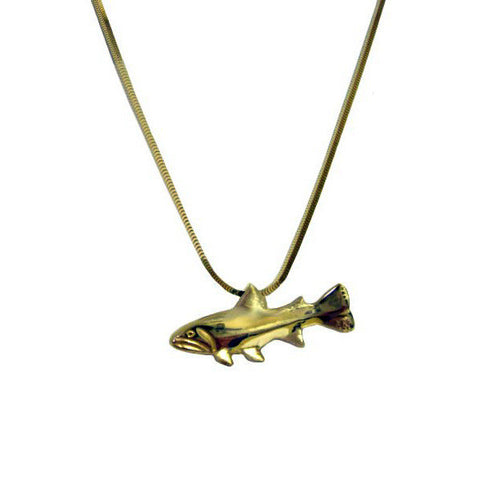 Sam Ferraro Trout Gold Pendant