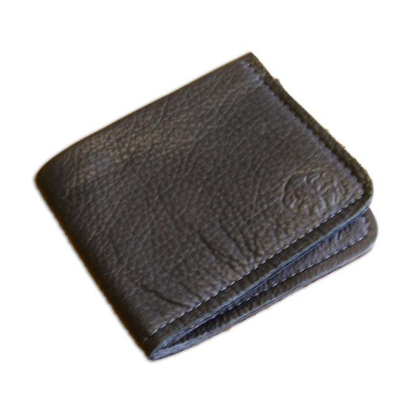 Black Bi-Fold Bison Hide Wallet by The Leather Store