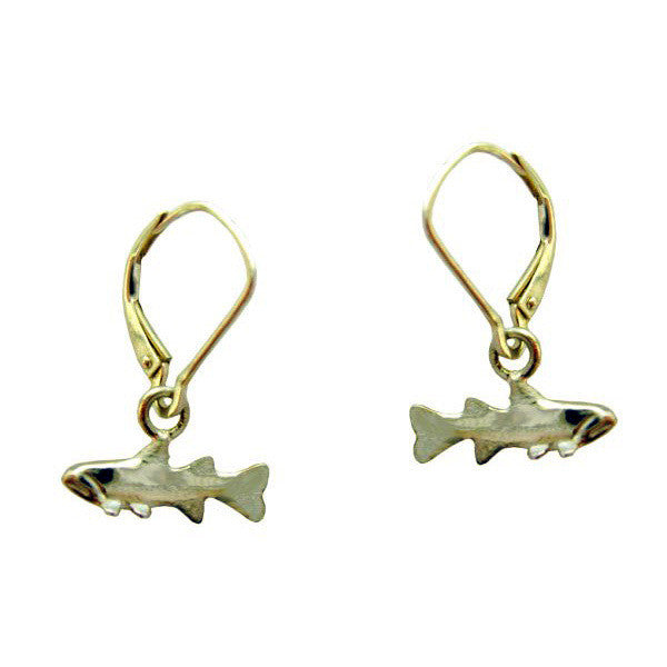 Sam Ferraro Trout Gold Earrings