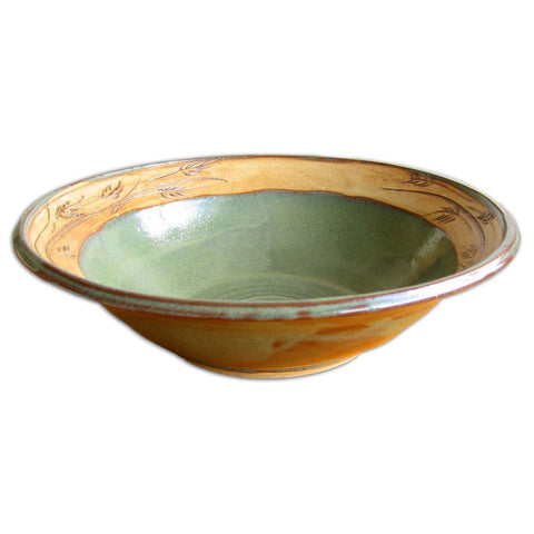 Large Green Pasta Bowl