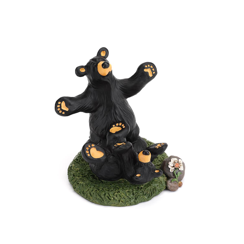 Bear Play Bearfoots Figurine by Jeff Fleming