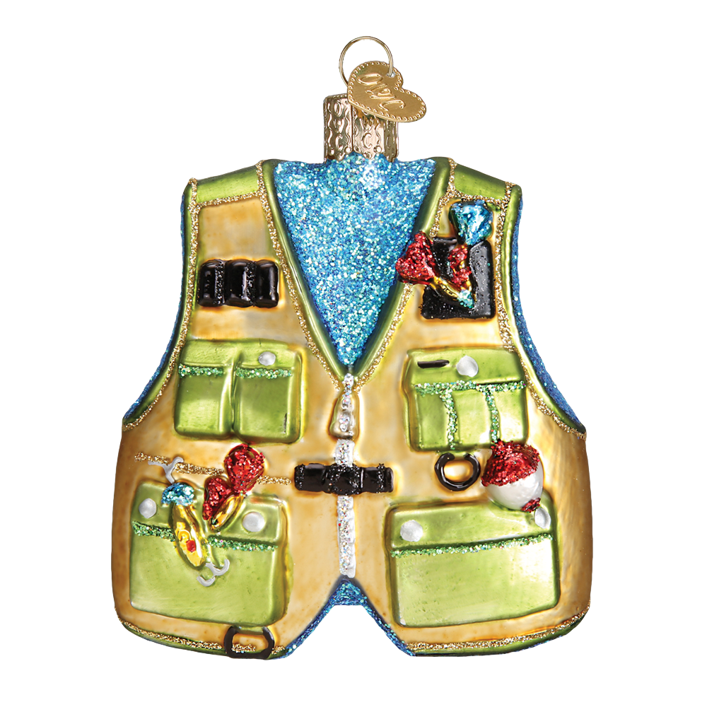 Fishing Vest Ornament by Old World Christmas