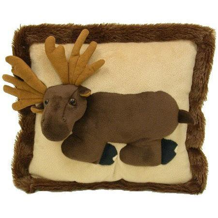 3D Moose Pillow by Wishpets