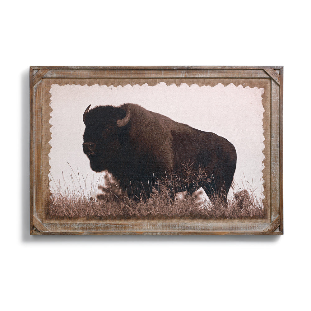Buffalo Barnwood Gallery Wall Art by Denver Bryan and Big Sky Carvers