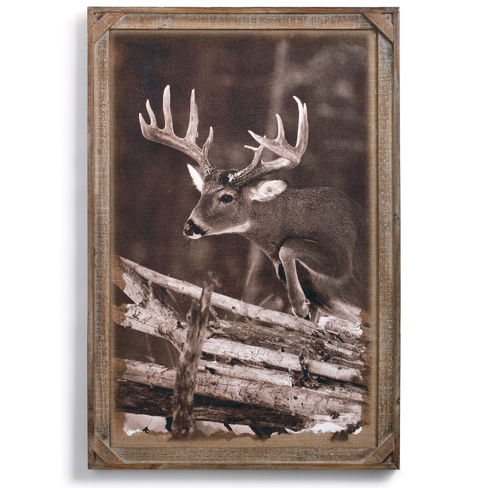 Whitetail Barnwood Gallery Wall Art by Denver Bryan and Big Sky Carvers