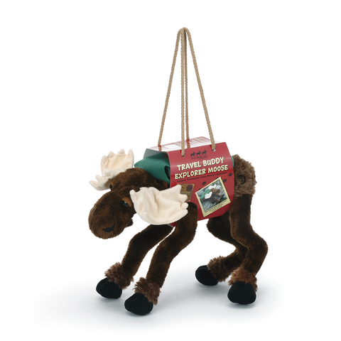 Travel Buddy Explorer Moose Plush by Big Sky Carvers