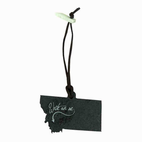 Montana Slate Tag/Ornament with Chalk