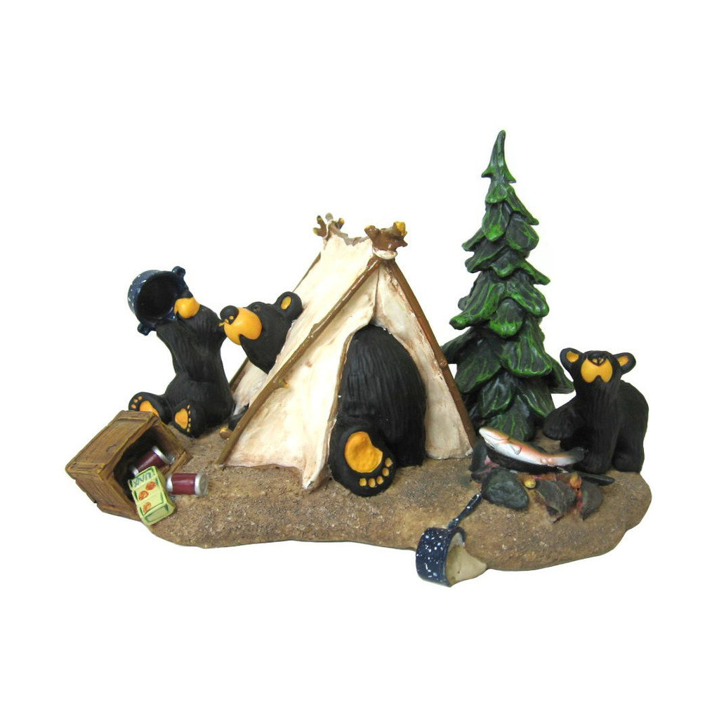 "Bearfoots ""Camp Runamuck"" Bear Camp Figurine- 10th Anniversary by Big Sky Carvers"