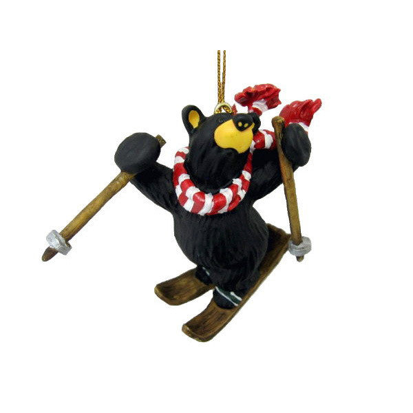 Bear Freestyle Skier Bearfoots Ornament by Jeff Fleming