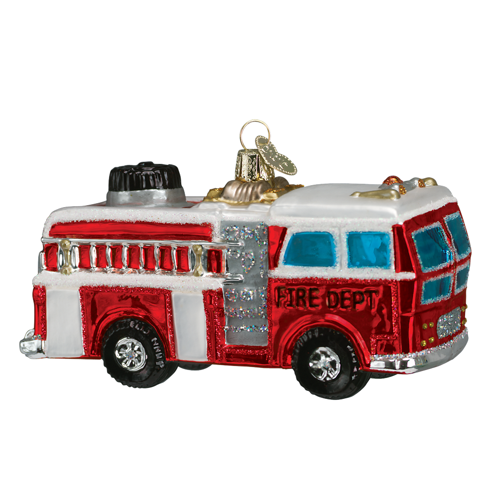 Firetruck Ornament by Old World Christmas