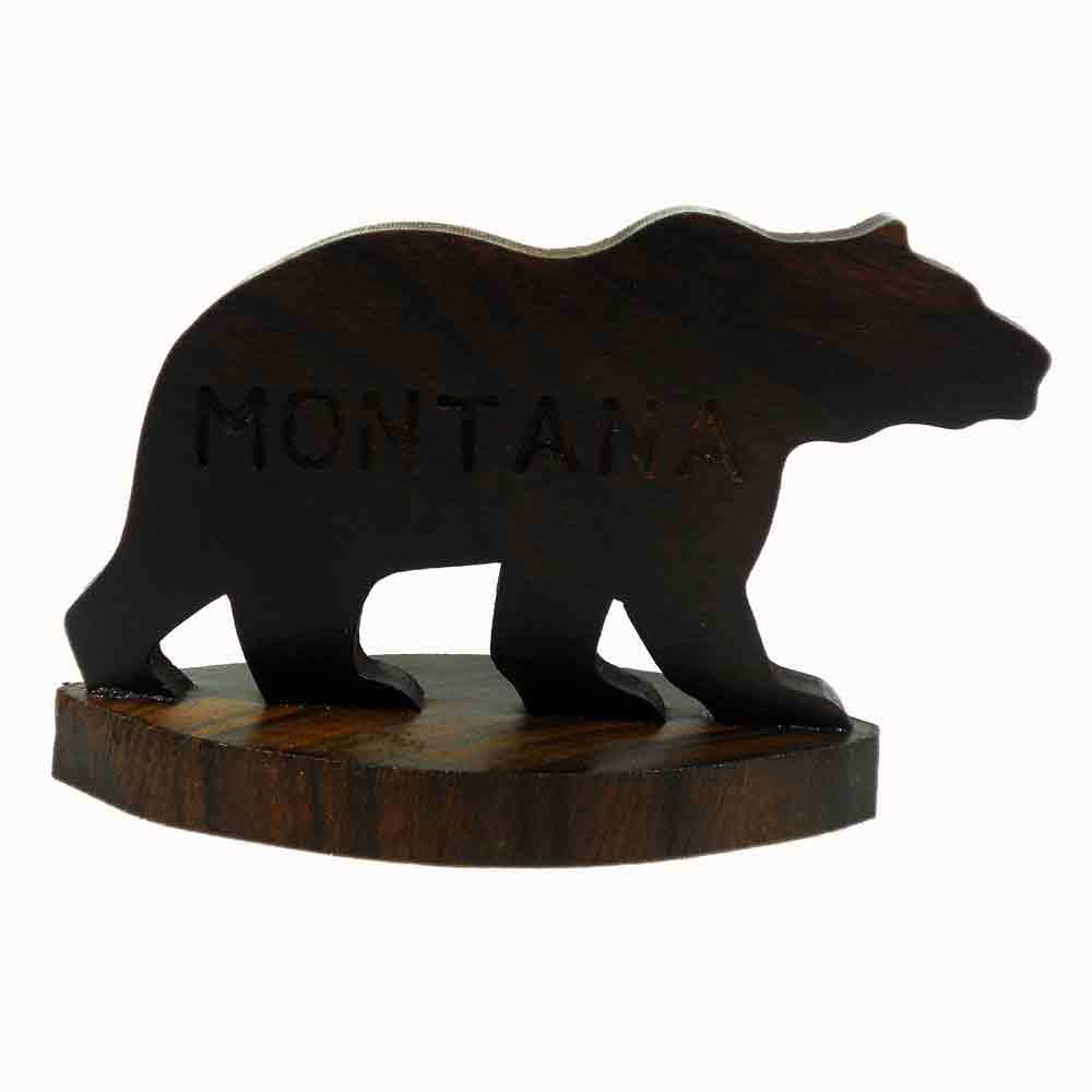 Engraved Bear Silhouette on Base